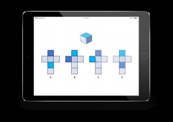 Spatial reasoning folding cubes