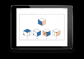 Spatial reasoning rotating cubes